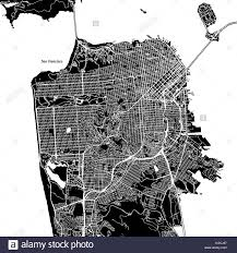 san francisco map downtown san francisco california downtown vector map city name on a