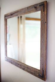 Frames For Bathroom Wall Mirrors Solid Wood Frame Mirror Walnut Contemporary Wall Mirrors Amazing