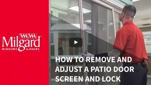 how to remove a patio door screen milgard blog milgard