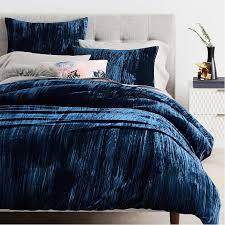 Duvet Donuts Crinkle Velvet Standard Sham Regal Blue Duvet Bedrooms And Nest