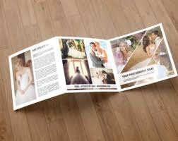 wedding photography brochure template 5x5 in square trifold
