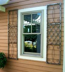 wrought iron exterior window shutters metal wall metal