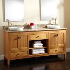 bathroom pure white double sink vanity with mysterious look and