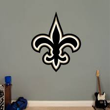 fathead orleans saints logo wall decals 16417676 overstock