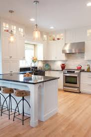 Wood Floor Kitchen by Best 25 Black Granite Countertops Ideas On Pinterest Black