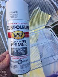 Paint For Metal Patio Furniture How To Paint Metal Lawn Furniture Refresh Living
