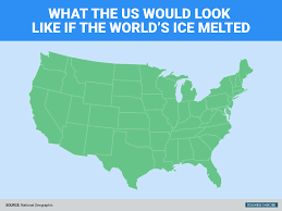 United States On A Map by How Us Coastline Would Change When All Ice Melts Business Insider