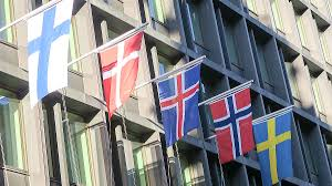Scandanavian Flags Nordic Co Operation Rikoksentorjunta