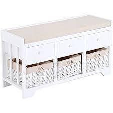 S Shaped Bench Amazon Com Prepac Monterey White Cubbie Bench Kitchen U0026 Dining