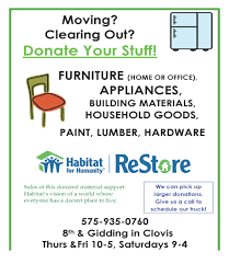 Office Furniture Donation Pick Up by Habitat For Humanity Roosevelt And Curry Counties In Nm Restore
