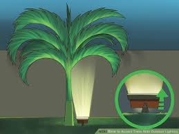 Outdoor Up Lighting For Trees 4 Ways To Accent Trees With Outdoor Lighting Wikihow