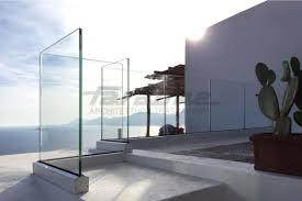 glass railing aluminum glass panel outdoor ninfa 90 by