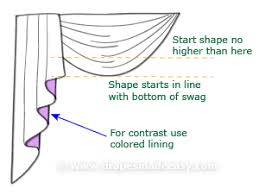 How To Sew Valance Swags And Cascades How To Make Your Own Cascade
