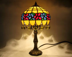 Colored Glass Table Lamps Stained Glass Lamp Etsy