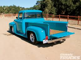 truck ford blue 56 ford f100 that u0027s a striking color cars i love pinterest