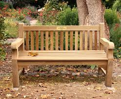 Teak Garden Benches Sponsor A Bench At Cabin In The Woods Volunteers Of America