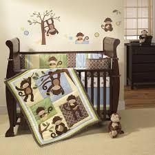 Crib Bedding Monkey Lambs 4 Pc M Is For Monkey Crib Bedding Set Shop Your Way