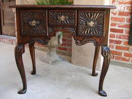 oak sofa tables antique english carved oak lowboy chest desk sofa table w queen