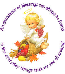 thinking of you and wishing you a happy thanksgiving with a heavenly