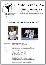 Stadt Bad Krozingen Karate Event De Kata Lehrgang Mit Timo Gißler In Bad Krozingen