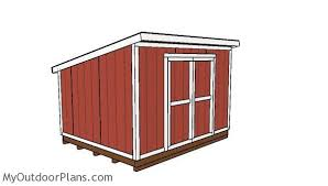Potting Shed Plans 10x12 Lean To Shed Plans Outdoor Shed Plans Free Pinterest