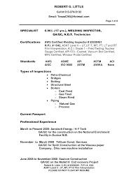 Certification Cover Letter Sle Cover Letter Certified Welder Resume Certified Welding Inspector