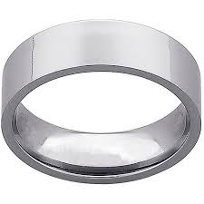 titanium wedding bands for men men s 7mm titanium flat wedding band walmart