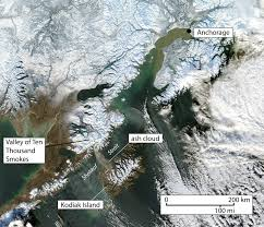 Anchorage Alaska Map by Annotated Satellite Image Of Southern Alaska Showing Anchorage And