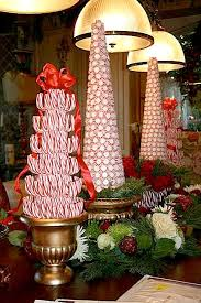 buffet table with fireplace candy topiary christmas trees gorgeous centerpiece for buffet