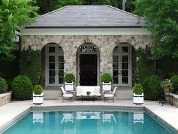 home landscape design studio pool limestone terrace and custom box planters by howard design