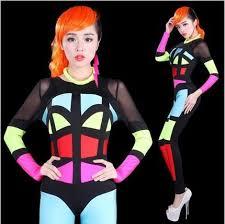 Halloween Neon Costume Aliexpress Buy Halloween Ds Singer Pole Dance Stage Show
