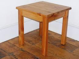 Pine Side Table Side Table Varnished Pine Dimensions 49cm Sq X 50cm Hig Flickr