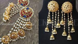 new jhumka earrings new latkan design kundan earrings design ideas kundan jhumka