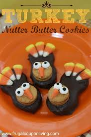 turkey nutter butter cookies tutorial thanksgiving food craft