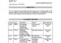 mba finance resume sample for freshers free resume samples