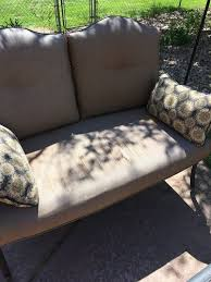 Patio Furniture Reupholstery by Replacing Patio Furniture Cushions Hometalk