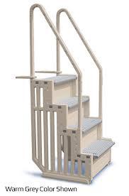 Plastic Handrail Pool Steps