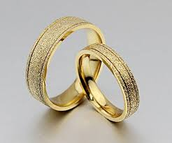 wedding gold rings the new titanium steel plated 18k gold wedding rings