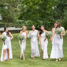 bridal party dresses is the white bridesmaid dress trend stealing the s thunder