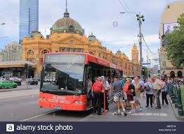 Tourist Signposting Manual Destination Nsw Public Transport Bus In Australia City Stock Photos U0026 Public