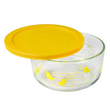Cup Storage Containers - pyrex simply store 4 cup yellow birds storage dish w lid pyrex