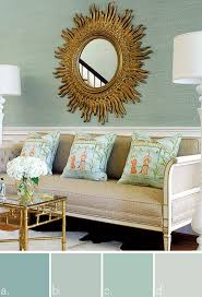 peach blue green and buttery yellow paint colors interiors