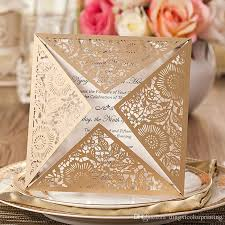 Marriage Cards New Design Wedding Invitations Cards Gold Paper Blank Inner Sheet