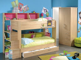Wood Bunk Bed Plans Wooden Bunk Bed With Storage For Different Kids Room Styles