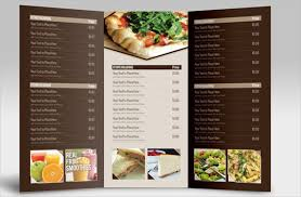 menu card templates 26 catering menu templates free sle exle format