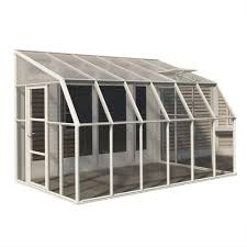 greenhouse sunroom rion sun room 8 ft x 12 ft clear greenhouse 702131 the home depot