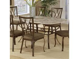 brookside rectangle dining table with fossil stone top morris