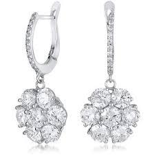 drop diamond earrings diamond drop earrings polyvore