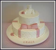 grace christening cake two tier christening cake for a lit u2026 flickr