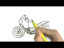 how to draw a motorcycle or bike in easy steps for children kids